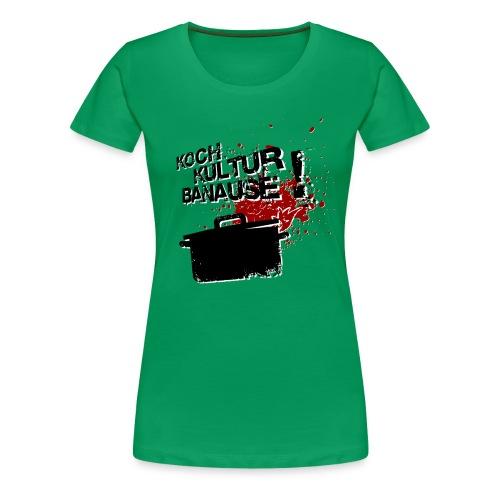 damen übergrößen-shirt kochkulturbanause - Frauen Premium T-Shirt