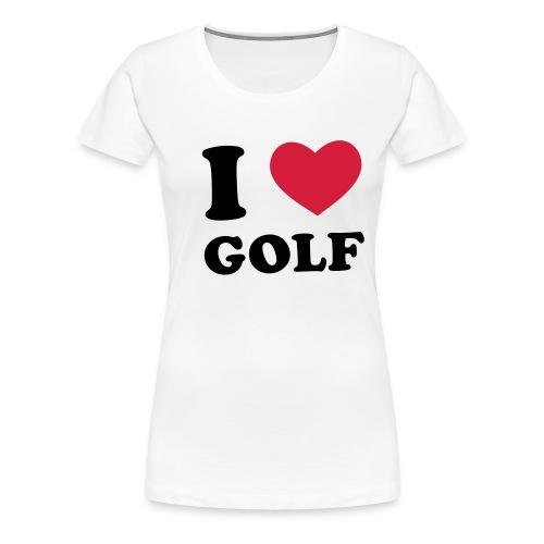 golf paita - Naisten premium t-paita