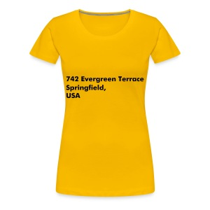 Address Series #5 (insp. by The Simpsons) - T-shirt Premium Femme