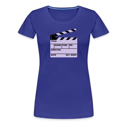 Writable Clapper Board T-Shirt - Women's Premium T-Shirt