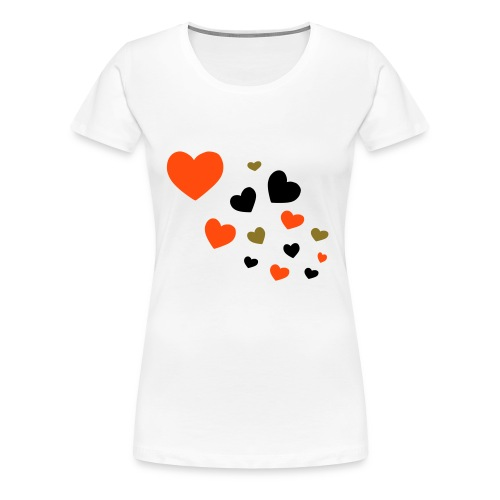 hearts girlie - Women's Premium T-Shirt