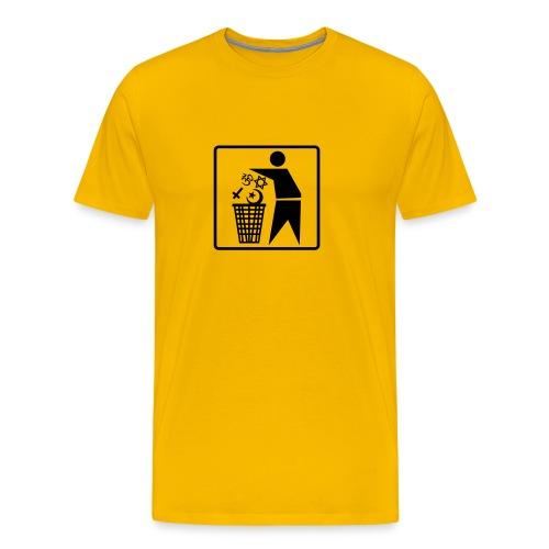 Religion Papierkorb - Männer Premium T-Shirt