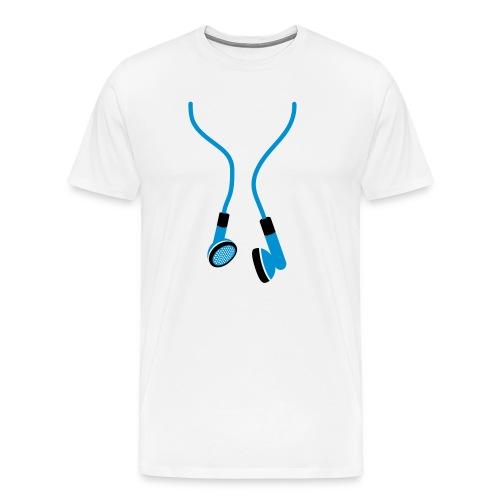 Earphones t-shirt - Men's Premium T-Shirt