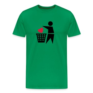 Binned Heart - Men's Premium T-Shirt