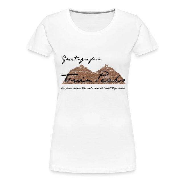 Camiseta Twin Peaks - chica manga corta