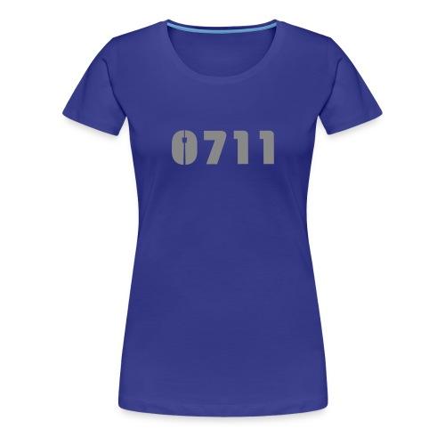 DAMEN SHIRT SILBER-GLITZER - Frauen Premium T-Shirt