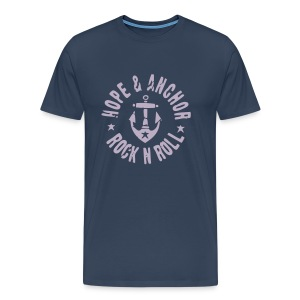 Hope and Anchor - Rock´n´Roll, blau/grau - Männer Premium T-Shirt