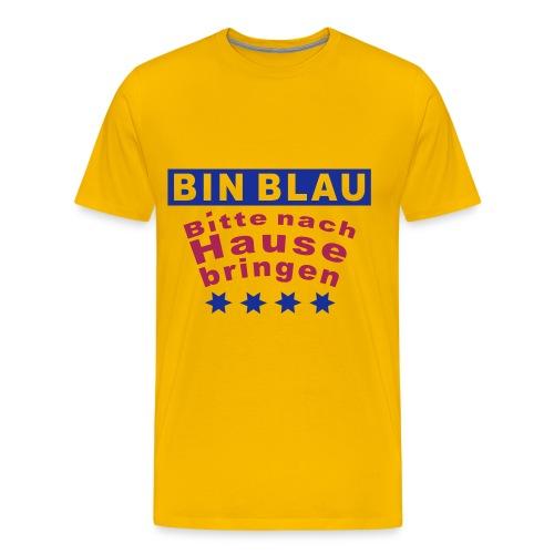 Bin Blau - Männer Premium T-Shirt