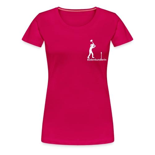 T-Shirt Bodenkundlerin, Pürckhauer, Brust, white - Frauen Premium T-Shirt