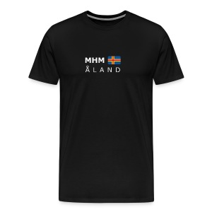 Classic T-Shirt MHM ÅLAND white-lettered - Men's Premium T-Shirt