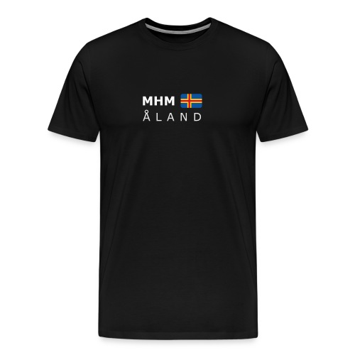 Classic T-Shirt MHM ÅLAND white-lettered - Men's Premium T-Shirt