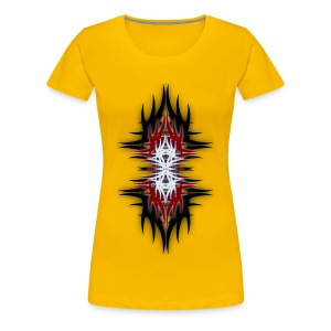 Color Tribal No2 Design Girlie Shirt - Frauen Premium T-Shirt