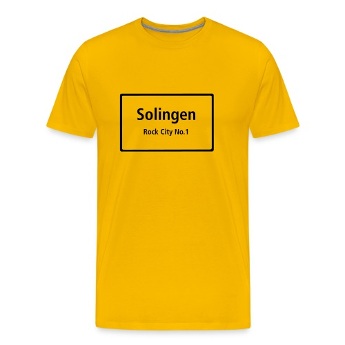 Solingen Rock City No.1 - T-Shirt Männer - Männer Premium T-Shirt