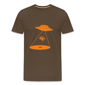 Alien Cow Abduction - Men's Premium T-Shirt