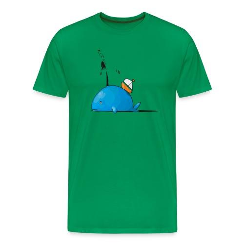 khaki green Männer T-Shirt Wal - Männer Premium T-Shirt