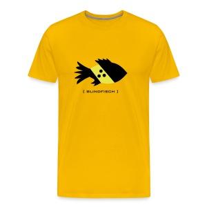 t-shirt fisch blind blindfisch flosse ozean meer wal delphin spruch sprüche comic tiershirt shirt tiermotiv - Männer Premium T-Shirt