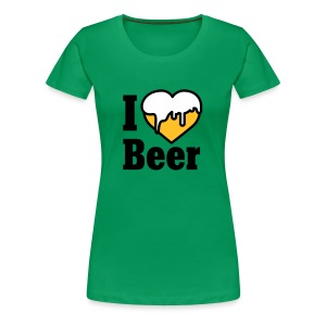 I love Beer | Heart | Beer T-Shirts - Frauen Premium T-Shirt