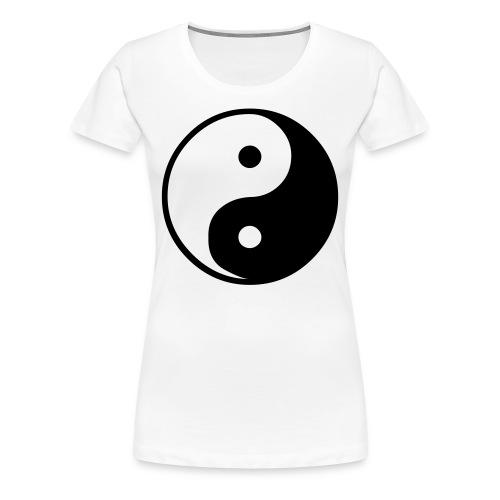 tee shirt femme ying et yang - Women's Premium T-Shirt