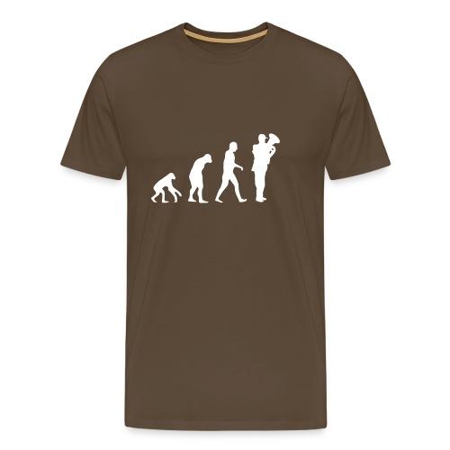 tuba ewolucja - Koszulka męska Premium