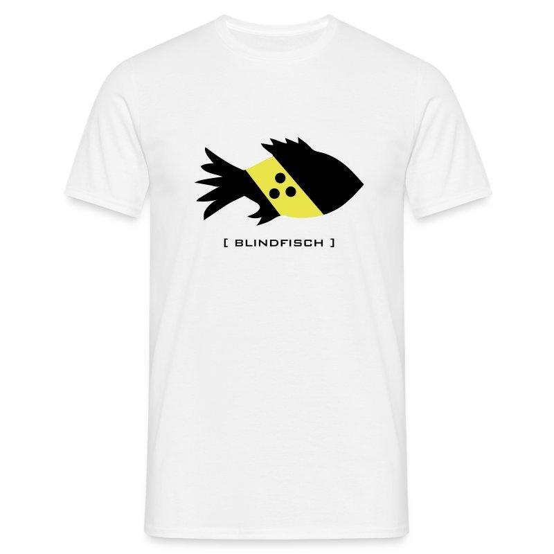 t-shirt fisch blind blindfisch flosse ozean meer wal delphin spruch sprüche comic tiershirt shirt tiermotiv - Männer T-Shirt