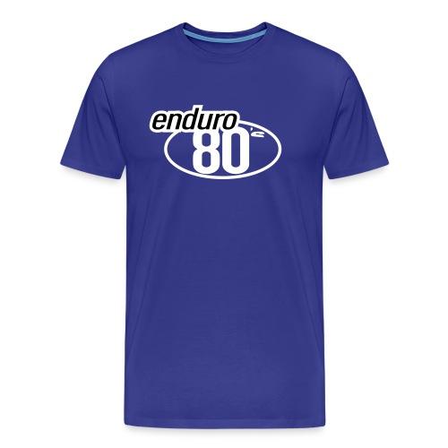 Enduro 80's Bleu - T-shirt Premium Homme