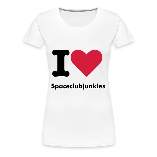 I love Spaceclubjunkies T-Shirt - Women's Premium T-Shirt