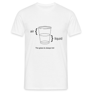Glass half full or empty (physics view) - Men's T-Shirt