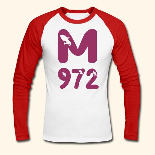 972 M, MARTINIQUE baseballshirt - T-shirt baseball manches longues Homme