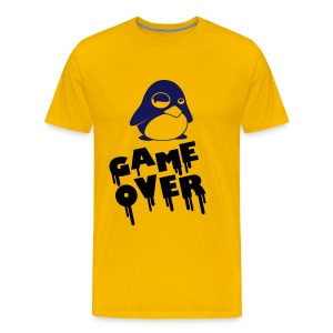 Game Over Pinguin Yellow - Männer Premium T-Shirt