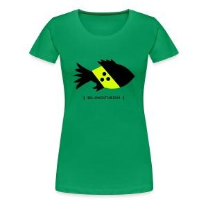 t-shirt fisch blind blindfisch flosse ozean meer wal delphin spruch sprüche comic tiershirt shirt tiermotiv - Frauen Premium T-Shirt