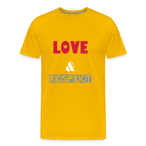 Love and respect - Männer Premium T-Shirt