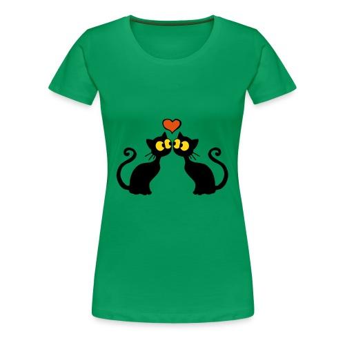 Verliebte katzen - Frauen Premium T-Shirt
