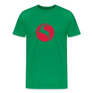 shirt hirsch geweih elch hirschgeweih wald wild tier jäger jägerin jagd förster tiershirt shirt tiermotiv weihnachten rentier - Männer Premium T-Shirt