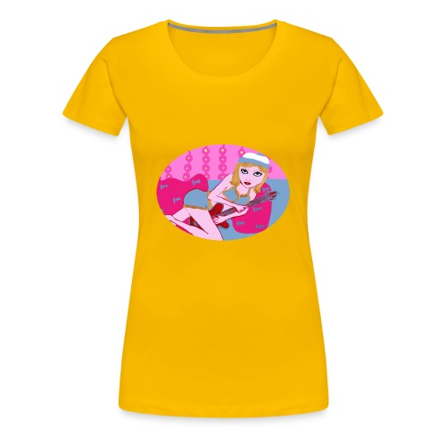 Guitar Girl  - Frauen Premium T-Shirt