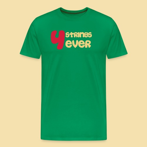 MenShirt: 4Strings 4 ever (Motiv: rot/beige) - Männer Premium T-Shirt