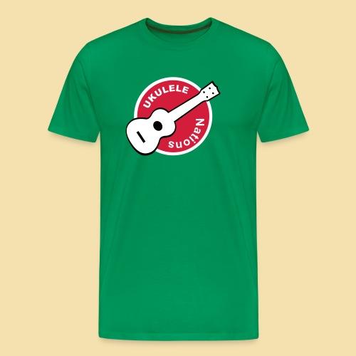 XL Menshirt: Ukulele Nations (Motiv: Rot/weiss/schwarz) - Männer Premium T-Shirt