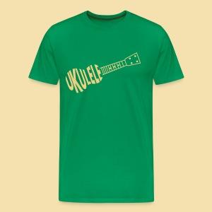 MenShirt: Ukulele Ukulele (Motive beige) - Männer Premium T-Shirt