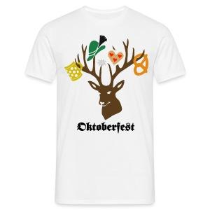 t-shirt oktoberfest wiesn hirsch edelweiss münchen bayern brezel hut lebkuchenherz bier bierkrug maß geweih T-Shirts - Männer T-Shirt