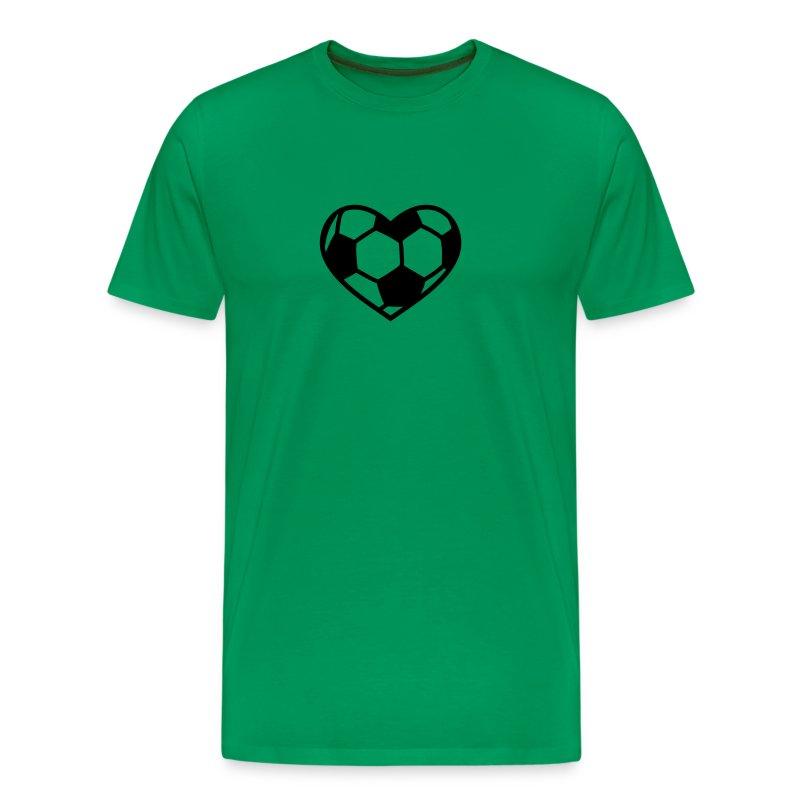 Fußball Herz - Männer Premium T-Shirt