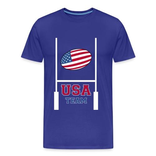 usa team rugby shirt - T-shirt Premium Homme
