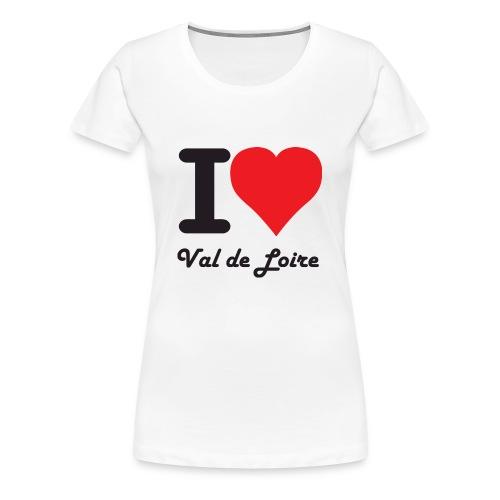 T-shirt Femme I Love Val de Loire - T-shirt Premium Femme
