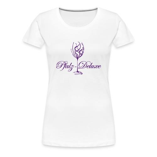 Pfalz Deluxe t-shirt mit Weinglas Motiv - Frauen Premium T-Shirt