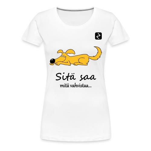 Selässä KOULUTTAJA - Naisten premium t-paita