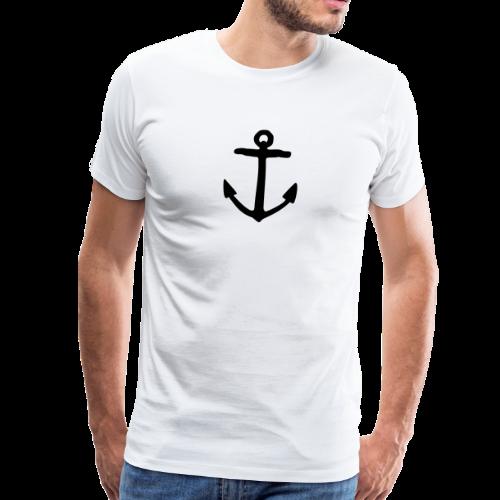 Anker (Schwarz) S-5XL T-Shirt - Männer Premium T-Shirt