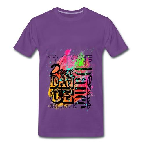 Dance Red Color Splash - Männer Premium T-Shirt