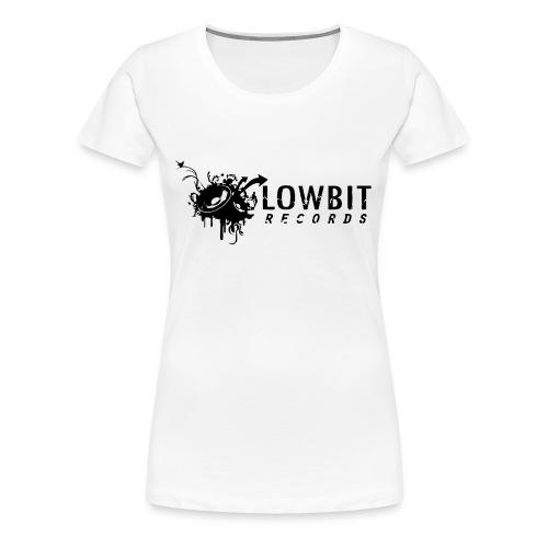Lowbit Records Women's Girly T-Shirt (Black Print) - Women's Premium T-Shirt