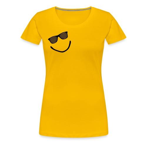 womens smiley-yellow - Women's Premium T-Shirt