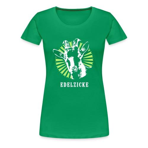 Edelzicke Grün - Frauen Premium T-Shirt