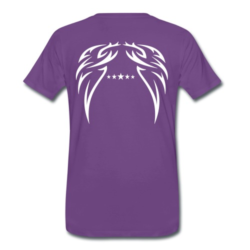 Back wing design with 5 star Rating - All colors. - Men's Premium T-Shirt