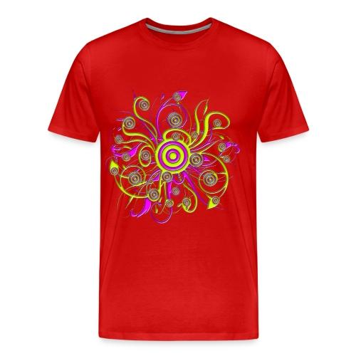 psychedelic flower - Männer Premium T-Shirt
